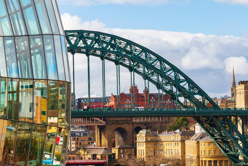 Vue d'une section de Sage Gateshead, photographie stock libre de droits