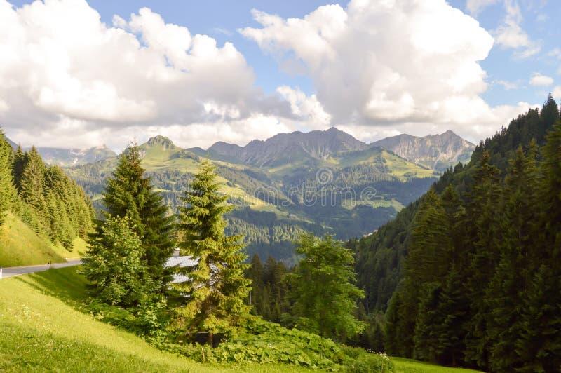Vue d'une vallée et d'un vert photographie stock
