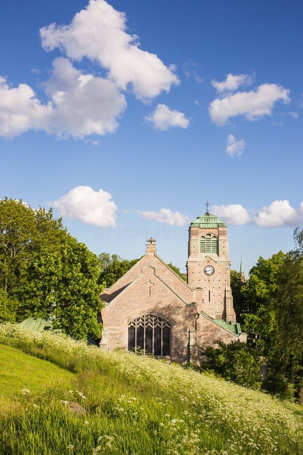 Vue d'une vieille église médiévale photo stock