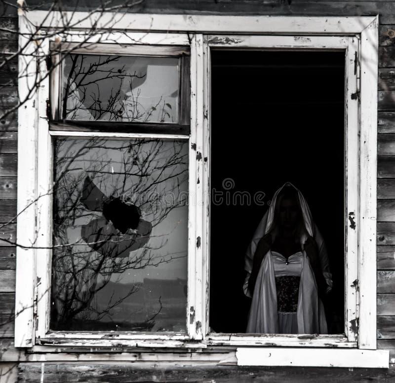 Vue d'une vieille fenêtre image stock