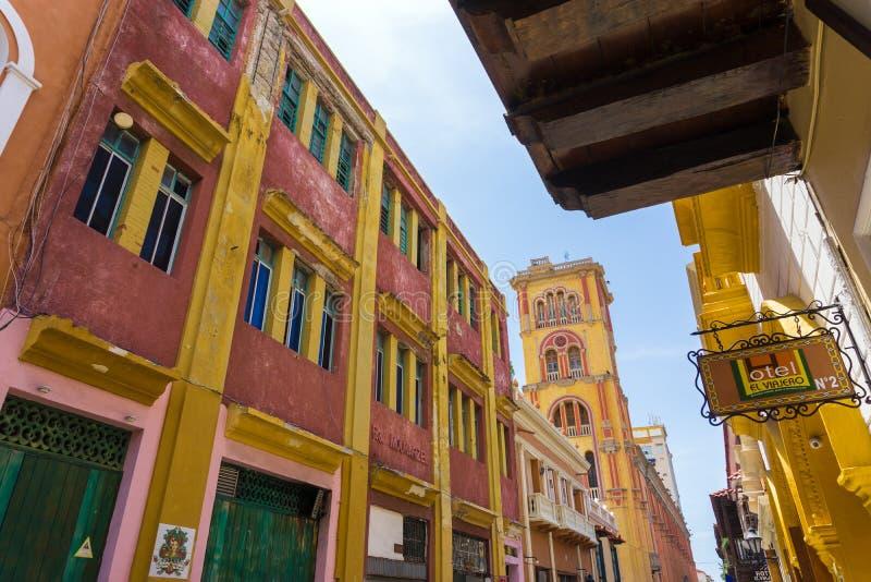 Vue d'université de Carthagène images stock