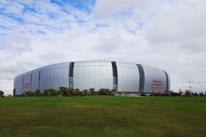 Vue d'University of Phoenix Stadium, Glendale photographie stock