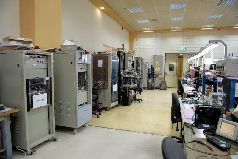 Vue d'usine de l'électronique photographie stock libre de droits