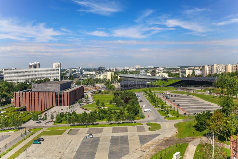 Vue dans Katowice, Pologne/paysage photo libre de droits