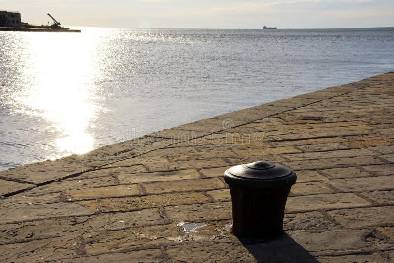 Vue de ‹d'†de ‹d'†de mer de Trieste images libres de droits