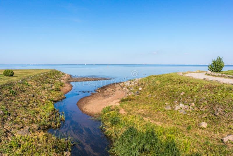 Vue de baie de Neva photos libres de droits