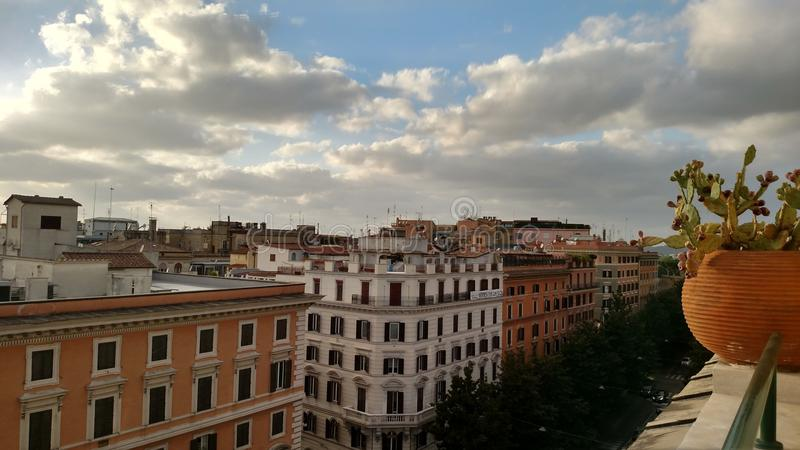Vue de balcon de Rome photographie stock