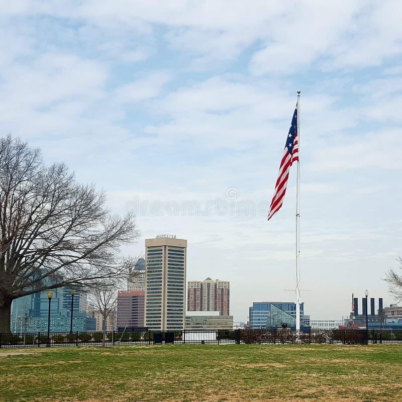 Vue de Baltimore photos stock