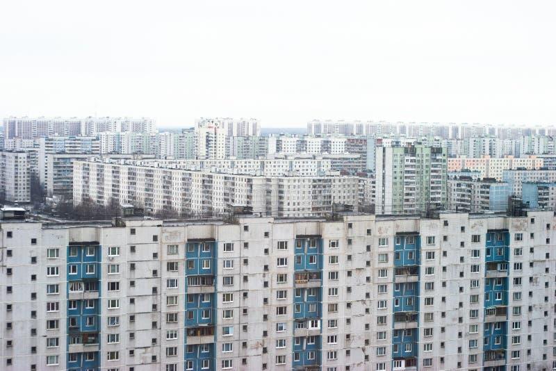 vue de banlieues de Moscou d'oeil d'oiseaux photos stock