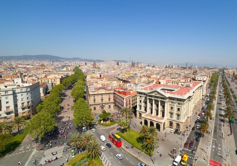 Vue de Barcelone images stock