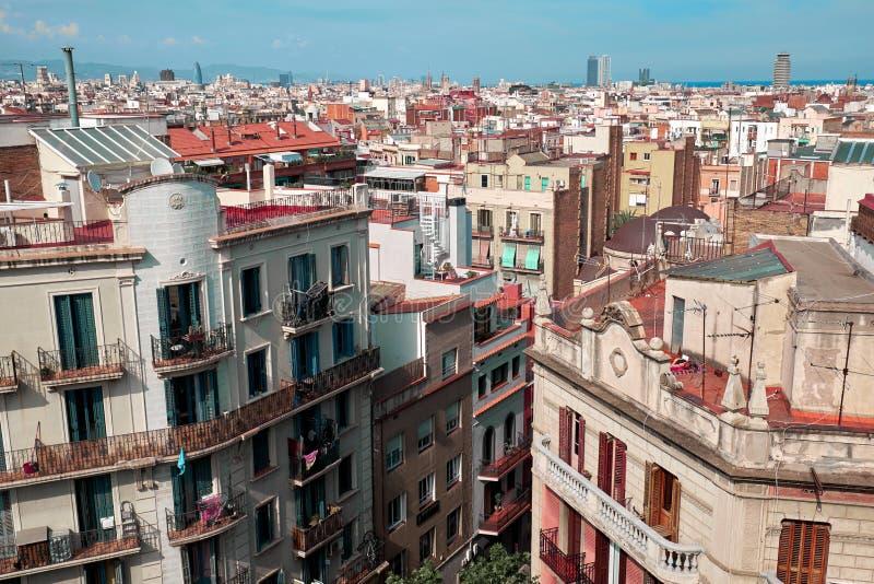 Vue de Barcelone d'en haut image stock