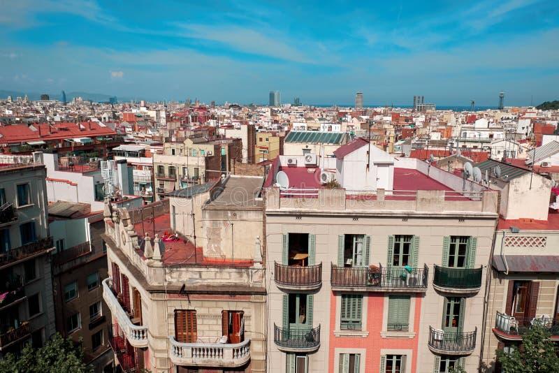Vue de Barcelone d'en haut photos libres de droits