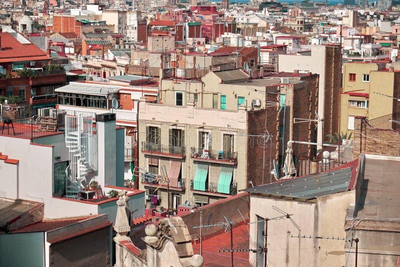 Vue de Barcelone d'en haut photo stock