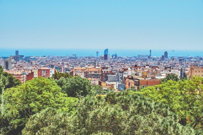 Vue de Barcelone d'en haut photographie stock