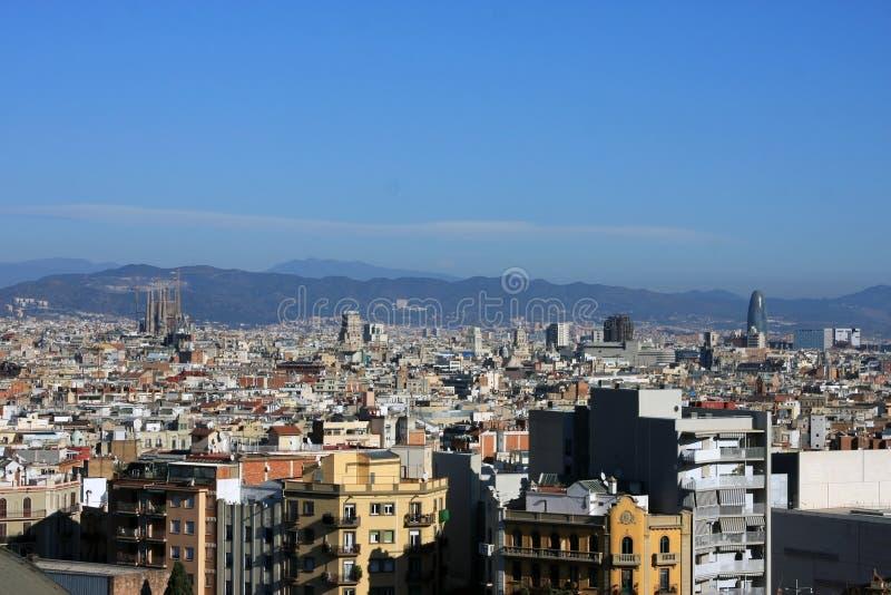 Vue de Barcelone de ci-avant photographie stock