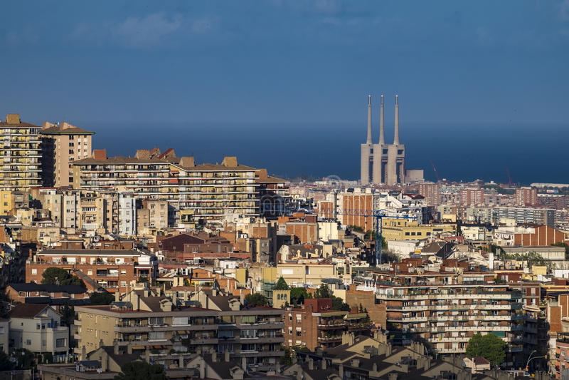 Vue de Barcelone et de Sagrada Familia photo libre de droits