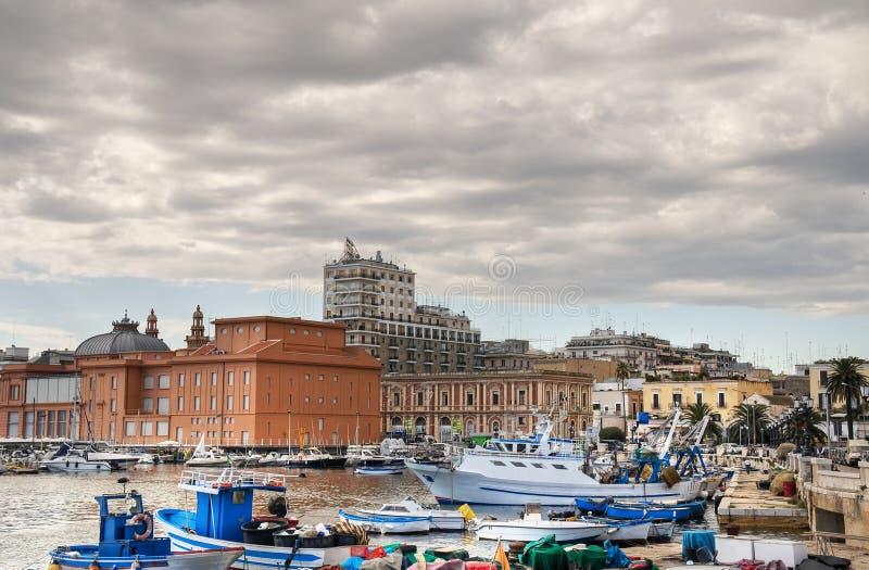 Vue de Bari. Apulia. images libres de droits