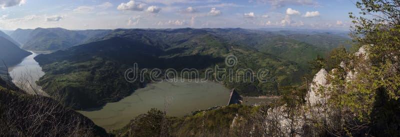 Vue de barrage de Perucac en Serbie occidentale images libres de droits