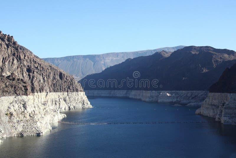 Vue de barrage de Hoover chez le Lake Mead, le Nevada et l'Arizona, Etats-Unis image stock