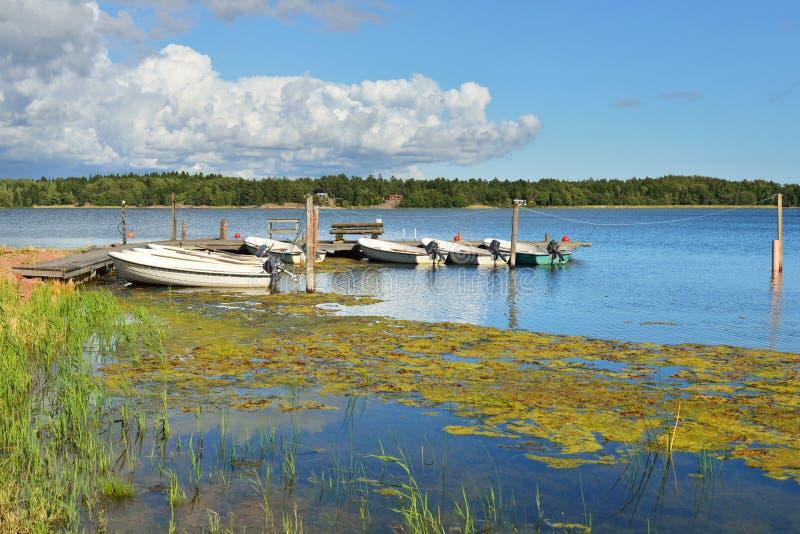Vue de beau lac bleu image libre de droits