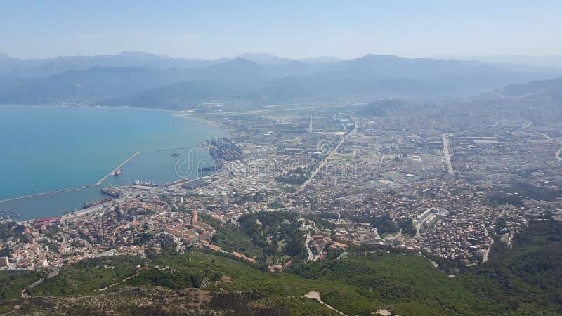 Vue de Bejaia images stock