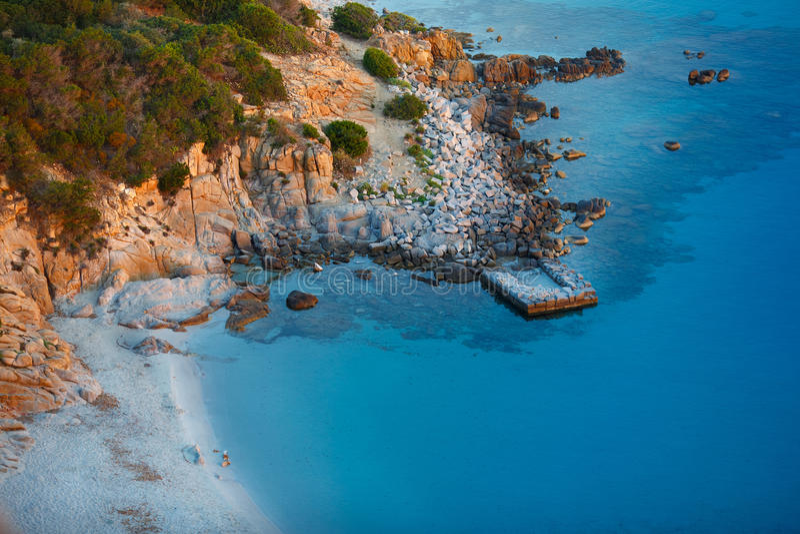 Vue de belle mer, Sardaigne, Italie images stock