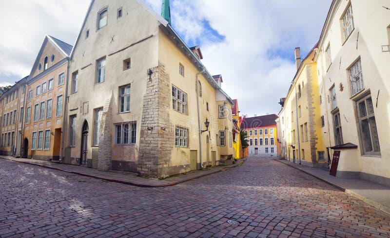 Vue de belle vieille ville Tallinn l'Estonie images libres de droits