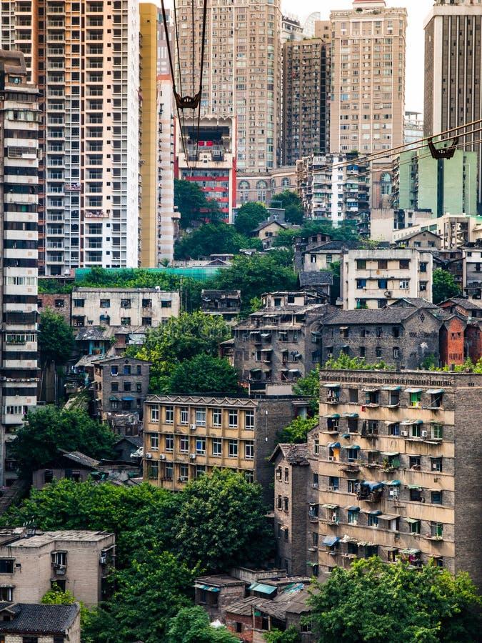 Vue de benne suspendue à Chongqing images stock
