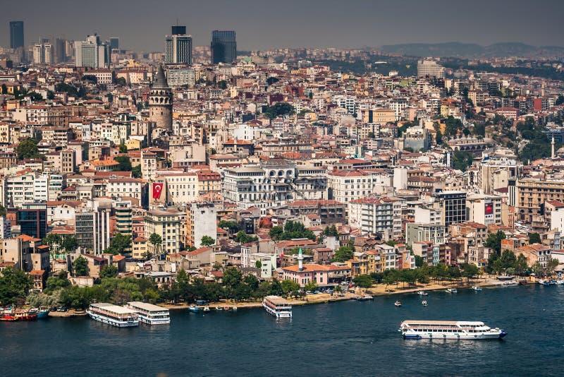 Vue de Birdeye de Galata, Istanbul photos libres de droits