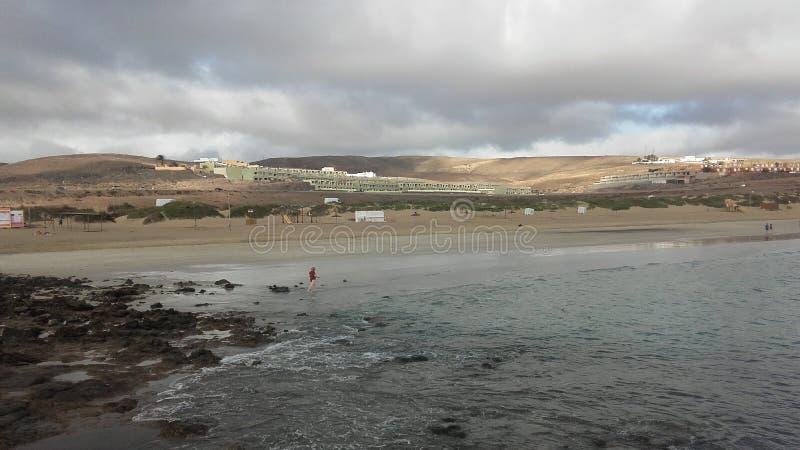 Vue de Blanca de Playa à Fuerteventura, Canarias image stock