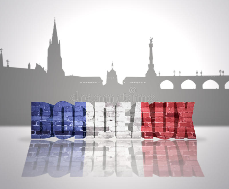 Vue de Bordeaux illustration libre de droits