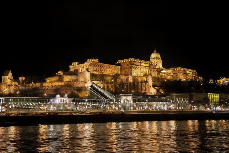 Vue de Buda Castle Royal Palace du Danube à Budapest, Hongrie, l'Europe images libres de droits