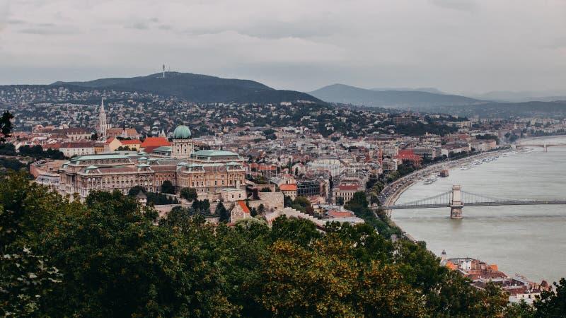 Vue de Budapesta de Citadela image libre de droits