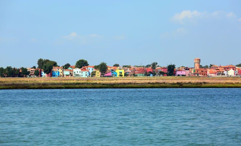 vue de Burano une île dans la lagune vénitienne près de Venise photo libre de droits