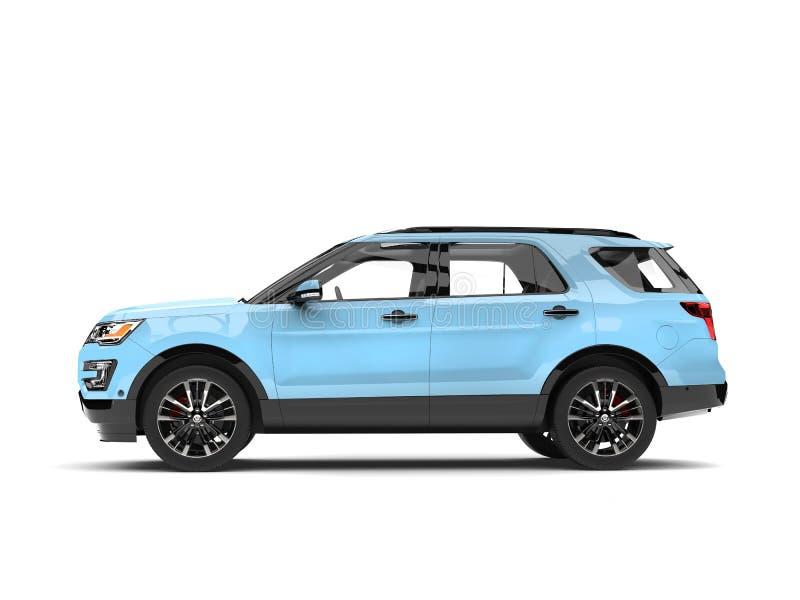 Vue de côté automobile bleu-clair moderne de SUV illustration libre de droits