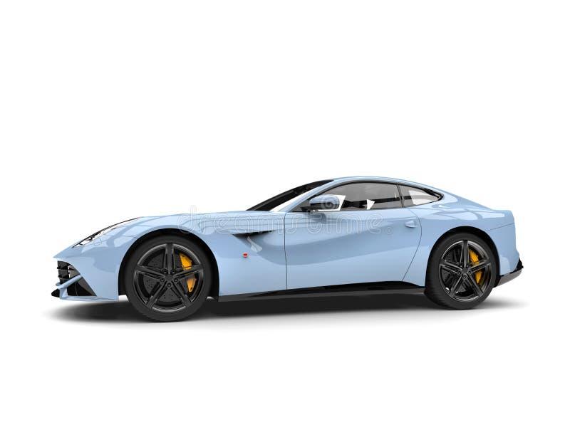 Vue de côté automobile de concept moderne bleu-clair frais illustration libre de droits