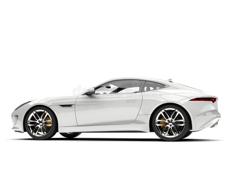 Vue de côté automobile de sports blancs modernes de concept illustration libre de droits