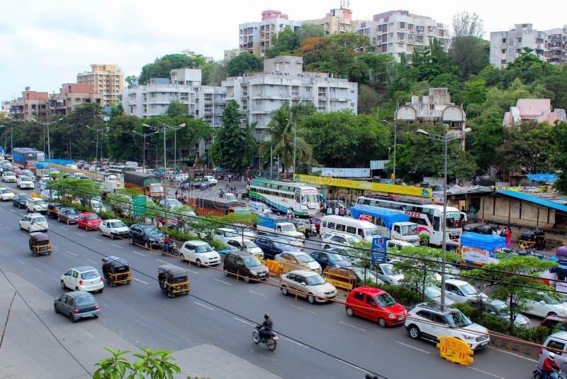 Vue de côté de belle ville de Mumbai image libre de droits