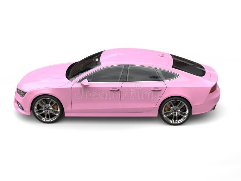 Vue de côté courbe automobile d'affaires modernes roses de sucrerie illustration de vecteur