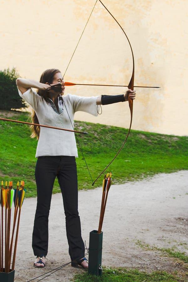 Vue de côté d'Archer image stock