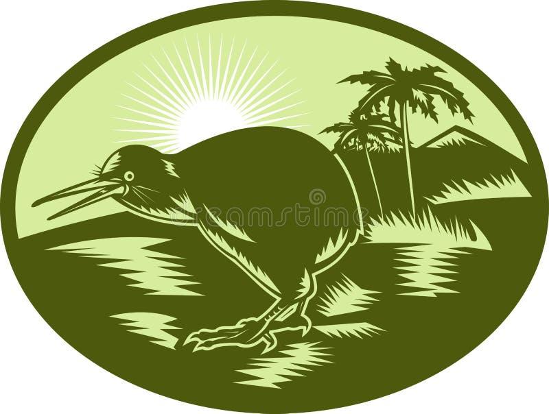 Vue de côté d'oiseau de kiwi illustration stock