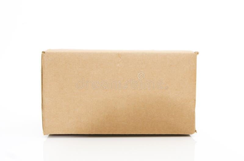 Vue de côté d'une boîte en carton images stock