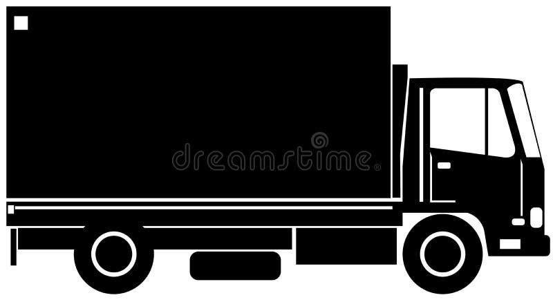 Vue de côté de camion de distribution illustration de vecteur