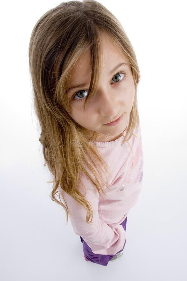 Vue de côté de jolie fille photos libres de droits