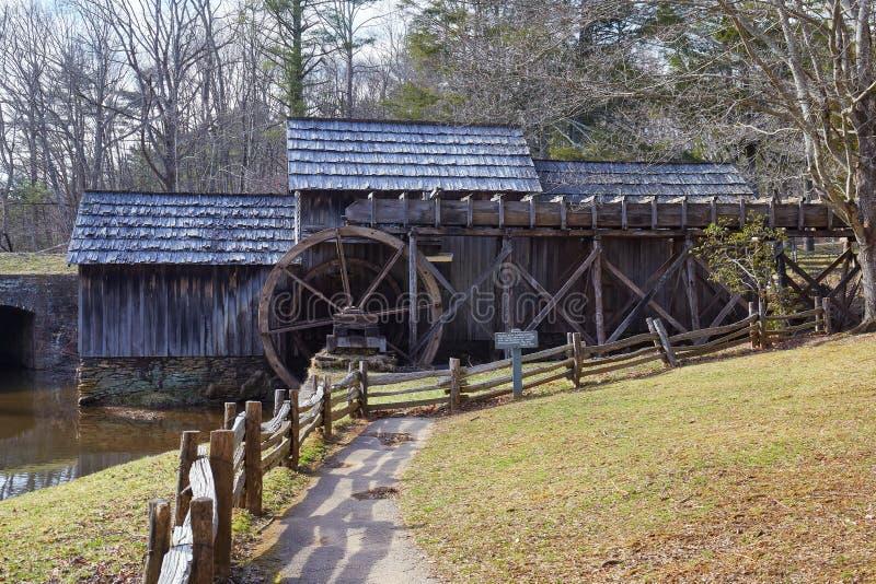Vue de côté de moulin de Mabry photos stock