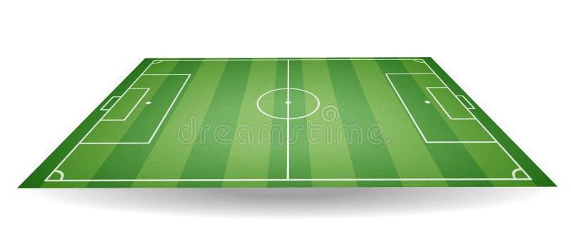 Vue de côté supérieure et de terrain de football Terrain de football texturisé en pe illustration de vecteur