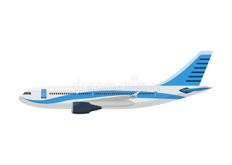 Vue de côté de vecteur de calibre d'avion sur un fond blanc illustration de vecteur