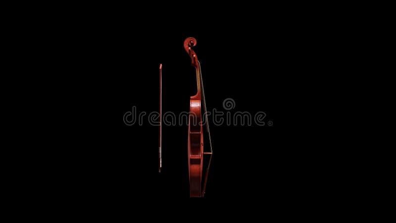 Vue de côté de violon classique illustration de vecteur