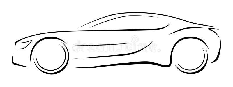 Vue de côté de voiture de sport illustration de vecteur