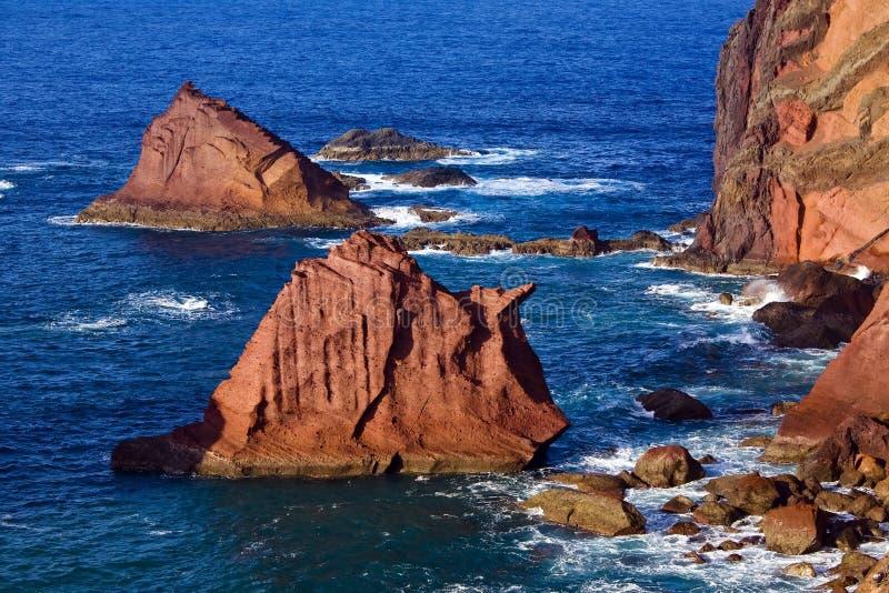 Vue de côte de la Madère photo libre de droits